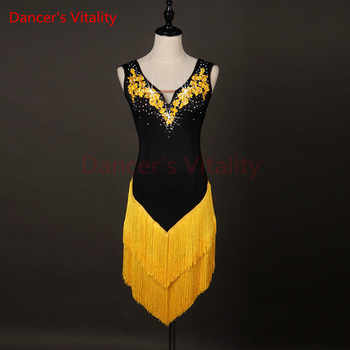 New Latin Dance Skirt Women High Quality Custom Made Size Classic Stage Tassel Latin Dancing Costume Adult Latin Dresses - DISCOUNT ITEM  10% OFF All Category
