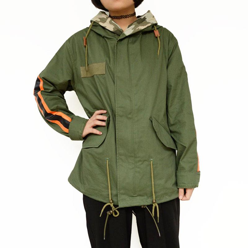 2019 Fashion design Spring and Autumn woman long sleeve orange Hat hooded basic jackets