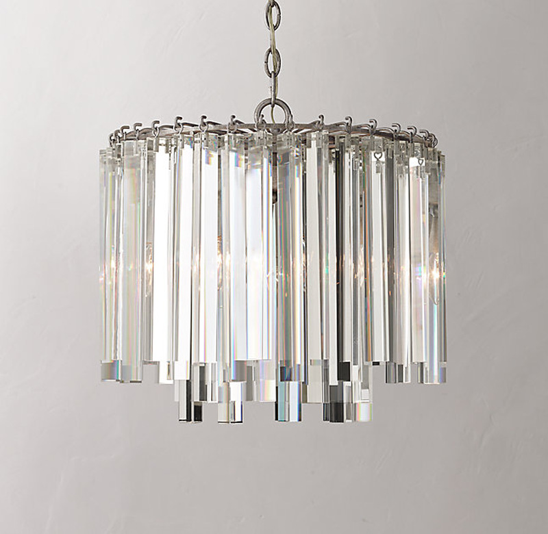 American Country Vintage Retro Loft K9 Crystal Iron Led E14*5 Pendant Light For Dining Room Living Room Bedroom Dia 44cm 2004 retro country pendant lights loft vintage lamp restaurant bedroom dining room pendant lamps american style for living room