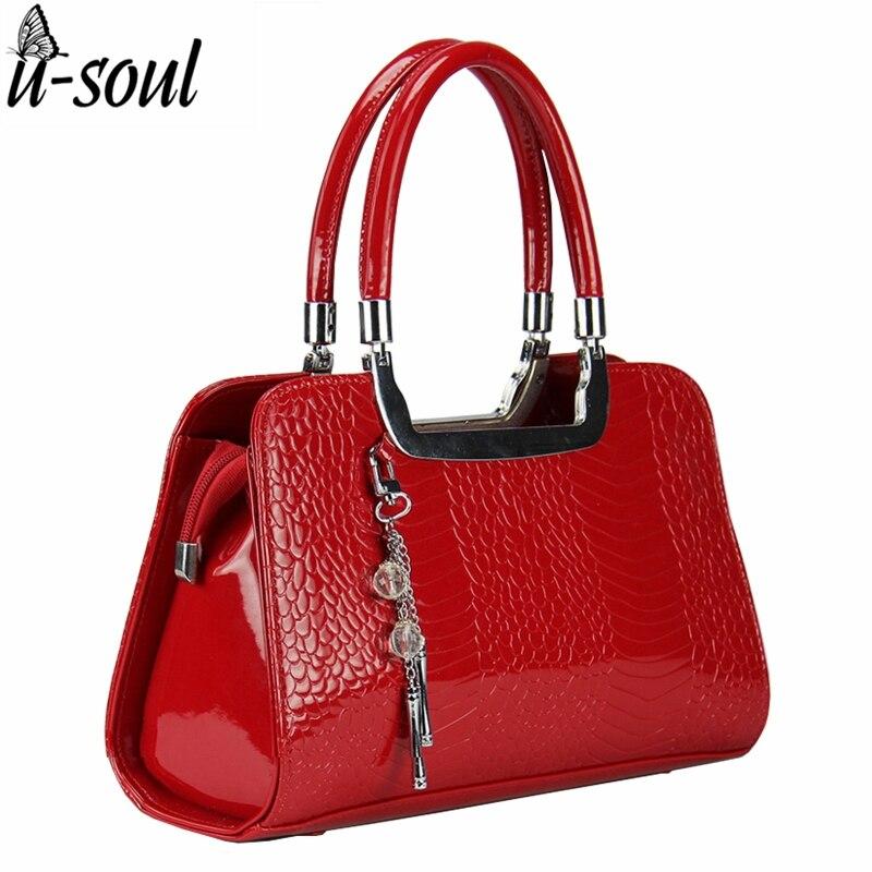 Fashion Women Handbags Luxury Medium Women Shoulder Bags Patent Leather Women Ba