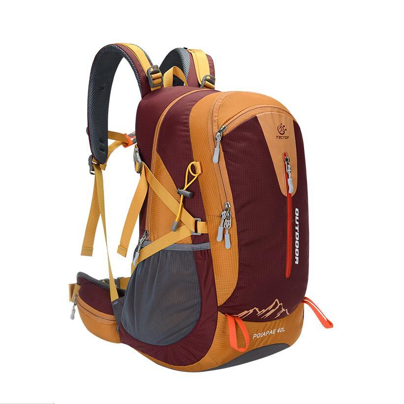 40L bolso del alpinismo mochilas mochila deportiva mochila de Nylon al aire libr
