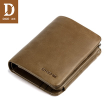 DIDE 2018 Summer Style Mens wallet Bag Casual genuine leather wallets male purse Vintage Small Card Holder Coin Purse