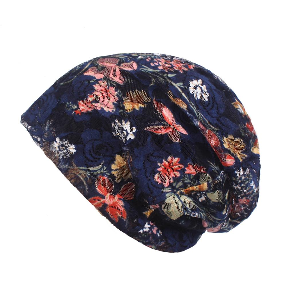 Womens Ethnic Style Cap Flower Turban Lace Confinement Postpartum Hat for Spring And Summer