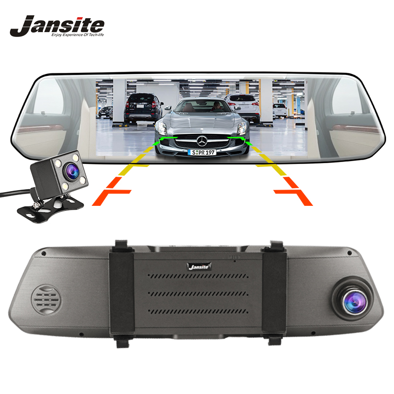 Jansite Dash Cam 7 Inch Touch Screen Car DVR Dual Lens Camera Super night vision Rearview Mirror Video Recorder Auto CameraJansite Dash Cam 7 Inch Touch Screen Car DVR Dual Lens Camera Super night vision Rearview Mirror Video Recorder Auto Camera