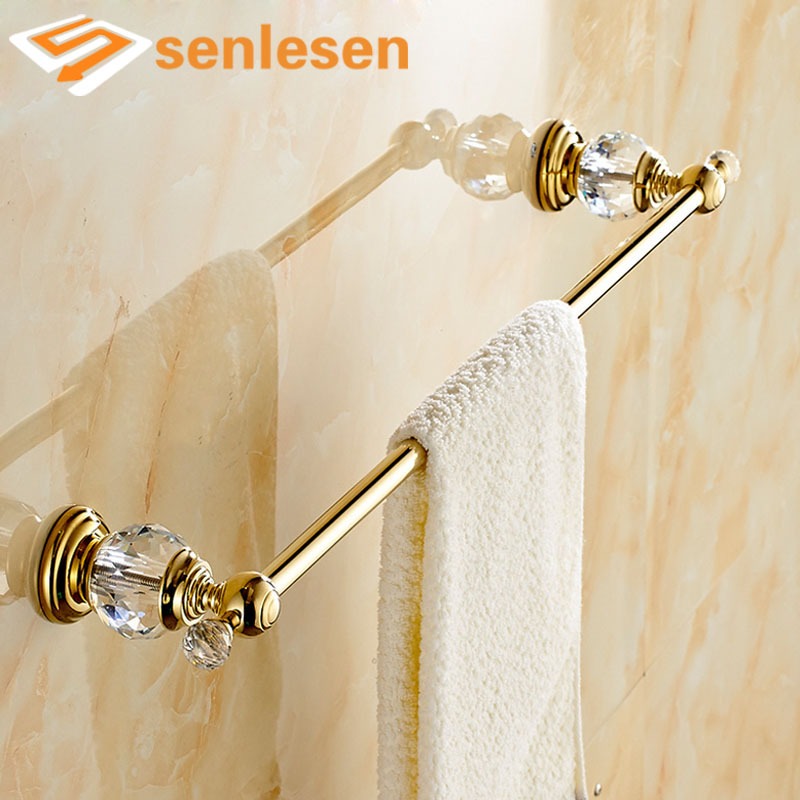Wholesale And Retail Modern Crystal Wall Mounted Bathroom Towel Rack Holder Single Bar Towel Rack Holder Golden Finish sweet spaghetti strap solid color two piece swimsuit for women
