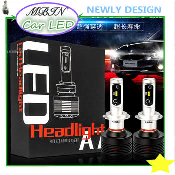 All in One kit M7 turbo LED headlight H7 PH-ZES 72W 9200lm Front head Bulbs replace super white light for auto modified lovers