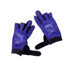 1Pair Outdoor Sport Waterproof 3 Cut Finger Anti-slip Non-Slip Fishing Gloves