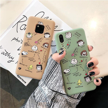 Cartoon Peanuts Family soft Phone Cases For Huawei