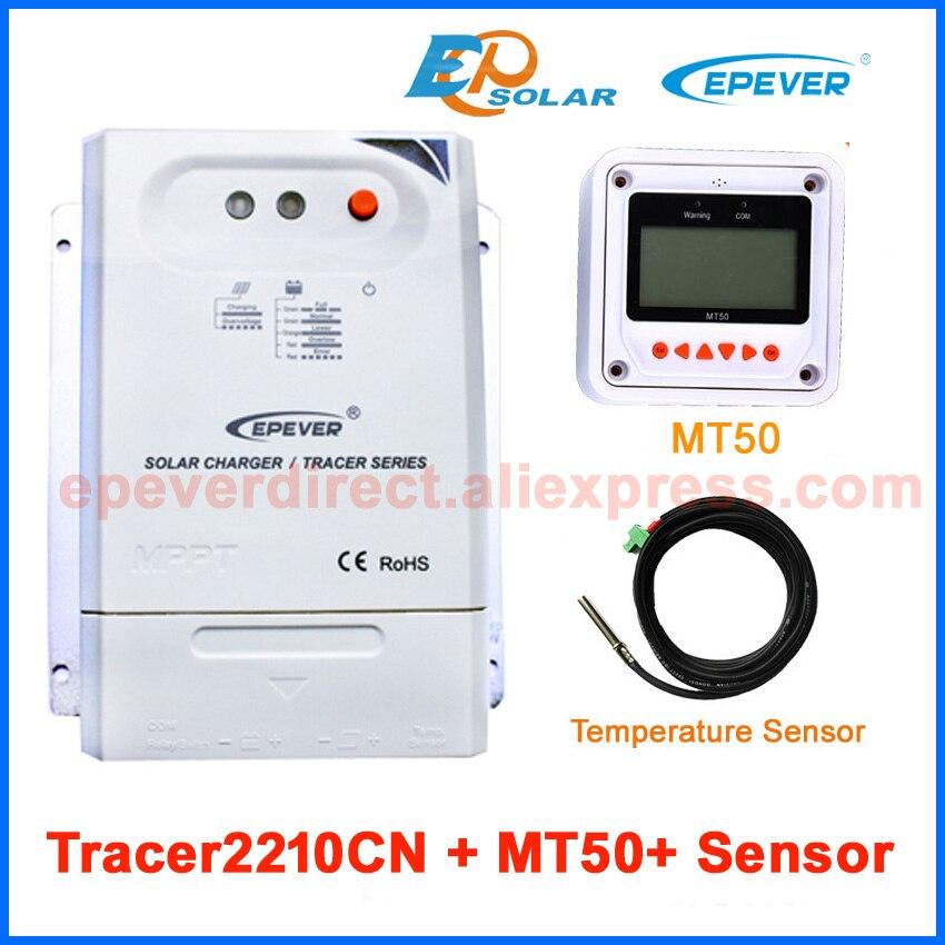 MPPT solar 20A controller bank charger battery 12V 24V free shipping to US/UK France temp sensor MT50 Meter Tracer2210CN цена