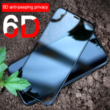 6D Anti-glare Privacy Tempered Glass Screen For iPhone X 7 8 8plus 7plus Anti Peeping Shatterproof 9H Toughened Protector Film