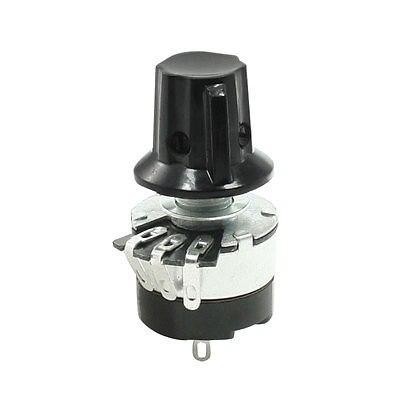 WH134-2 Single Turn Carbon Rotary Taper Switch Potentiometer Pot 470K ohm w Knob 120pcs wth118 1a round shaft carbon rotary taper potentiometer 5 1k 5 6k 6 8k 10k 22k ohm