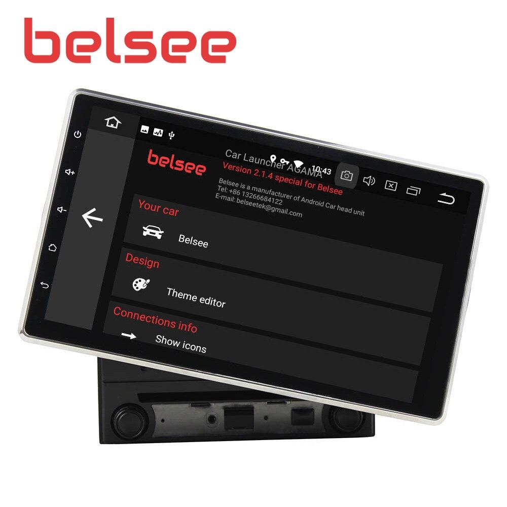 Belsee Universal Android 9.0 10.1 IPS Screen Car Radio Head Unit 2 Din Stereo Bluetooth Autoradio GPS Navigation Audio Player