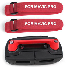 Controller Protector Thumb Stick Guard Brackets with 2pcs Propeller Clip Stabilizer Fixing Strap for DJI MAVIC PRO Drone -Red
