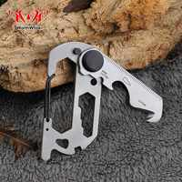 WorthWhile Multifunction Climbing Carabiner EDC Keychain Gear Outdoor Tools Camping Hiking Stainless Steel Wrench Bottle Opener