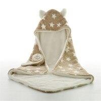 Bebê recém-nascido Swaddle Envoltório Inverno Engrosse Velo Coral Infantil Parisarc saco de Dormir Envelope saco de Dormir Swaddle Cobertor Bebe Macia e Quente