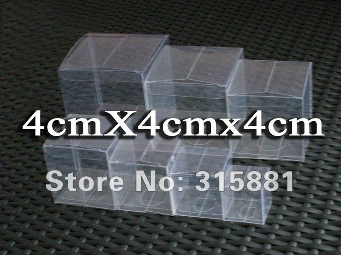 PVC clear packing box gift box cosmetic box 4x4x4cm 300pcs lot