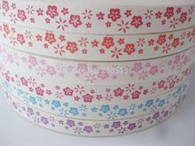 CRNNLN Piccolo fiore stampato 100% cotone Nastri 24 Yards Accessori decorativi di design per il fai da te