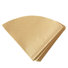 40Pcs V-type Coffee Filtering Paper 1-2 Cup Coffee Paper Filter for American Coffee Maker – Beige