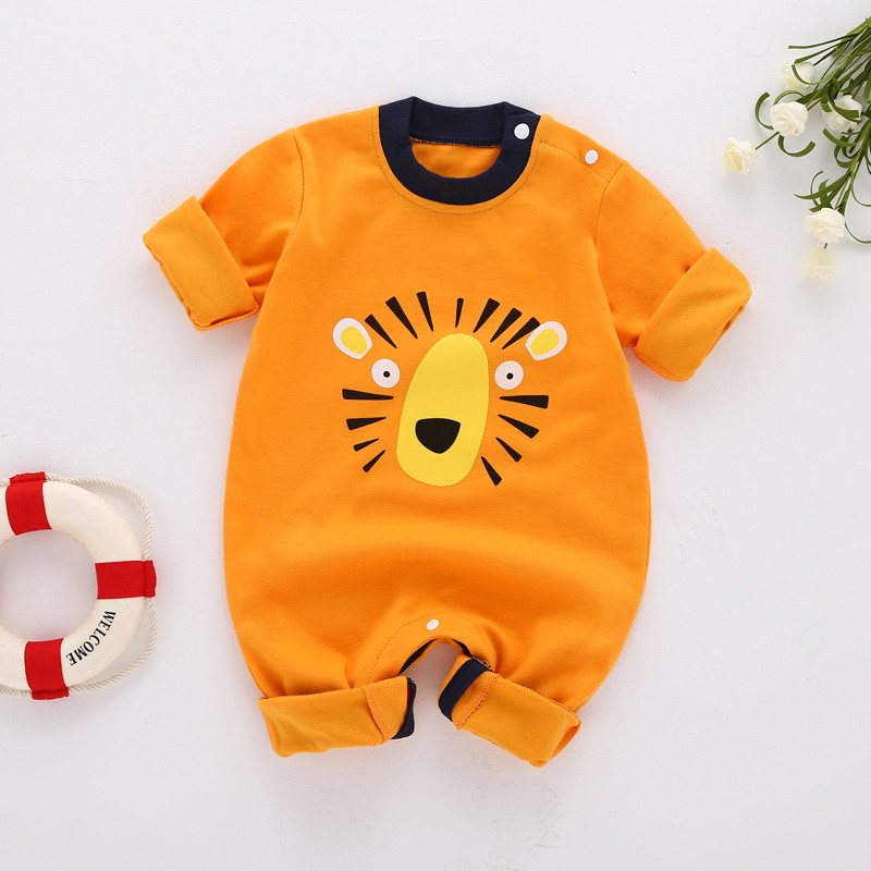 Winter baby boy's clothing Cartoon Pig Baby Romper Long Sleeve children's Clothing Warm Baby Clothes Cotton infant baby jumpsuit цены онлайн
