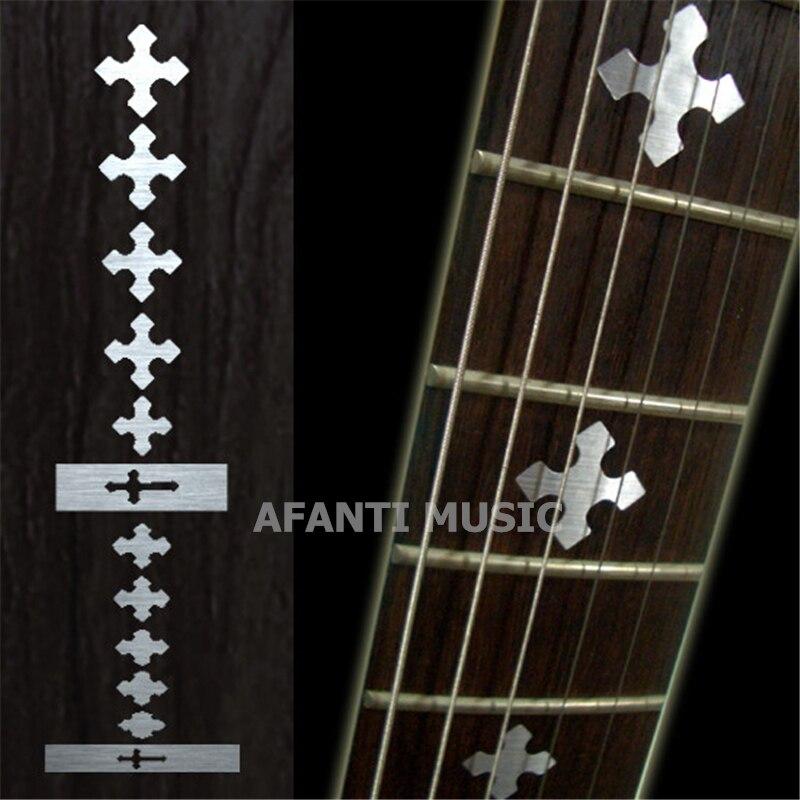 Afanti music Guitar Finger Board sticker / Shell sticker / cross Inlay (FPD-116) yibuy 2pcs inlay colorful guitar head veneer shell sheet new