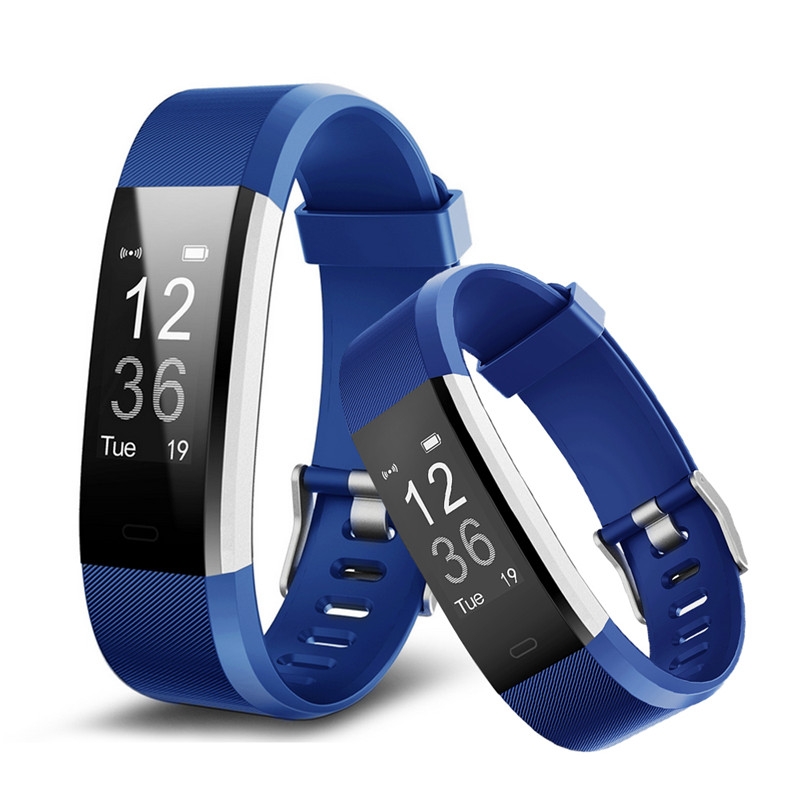 ID115 Bluetooth Smart Wristband for Ios Android Casual Smart Strap Heart Rate Monitor Alarm Clock Men Women Watch OLED Bracelet new fashion smart watch dial call 16g card heart rate monitor wristband for ios android bluetooth smart band women men bracelet