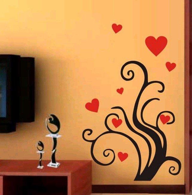 love grass pvc living room,bedroom wall sticker/ wallpaper/wall
