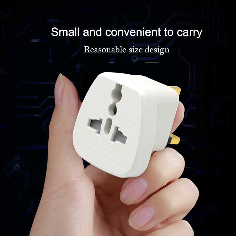 Uniwersalny ue, usa, AU do wielkiej brytanii AC gniazdo zasilania wtyczka adapter ładowarka podróżna konwerter biały ABS wtyczki elektryczne dla telefonów komórkowych Laptop
