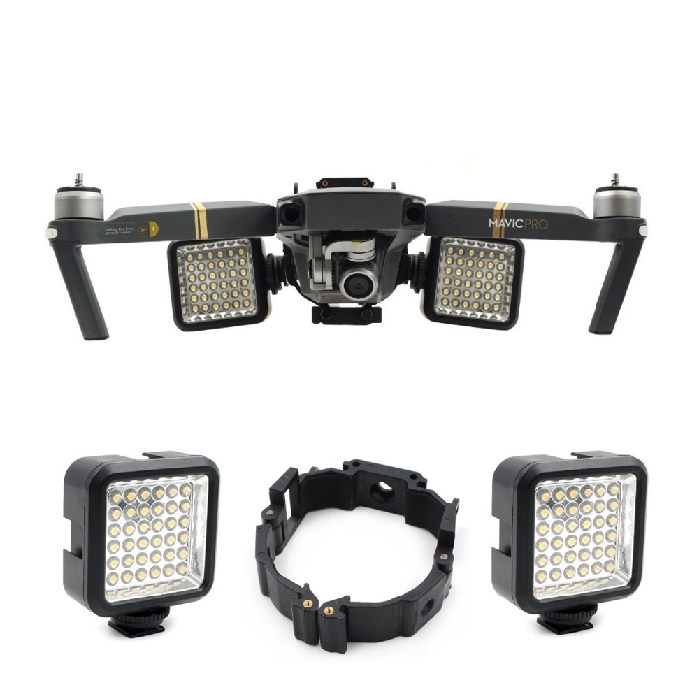 For DJI Mavic Pro Platinum Drone Part Night Flying LED Light  Mount Buckle Holder Bracket Frame For DJI MAVIC Pro Accessories