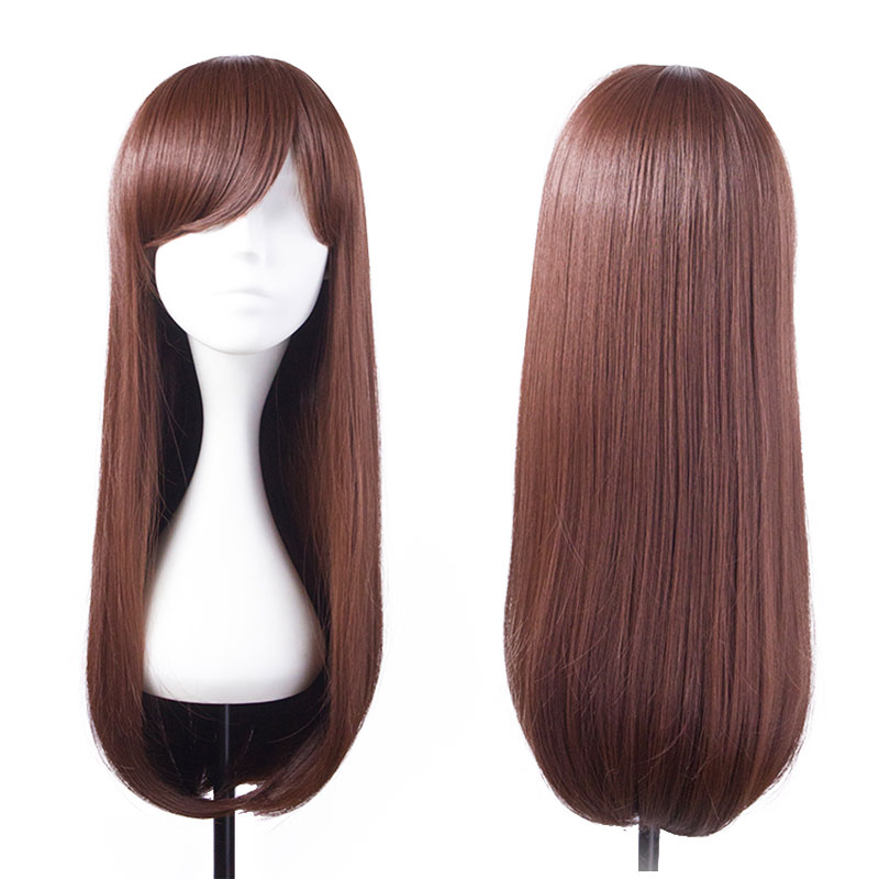 80CM Long Straight Wine Red Wig High-quality Pretty Daily Prom Club Show L35#