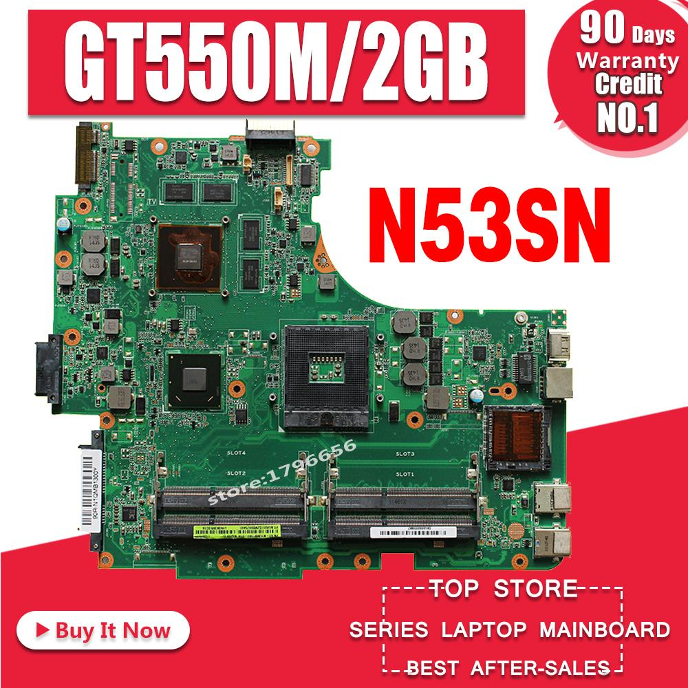 N53SN Motherboard GT550M 2GB RAM For ASUS N53 N53S N53SV N53SM Laptop Motherboard N53SN Mainboard N53SN Motherboard Test 100% OK