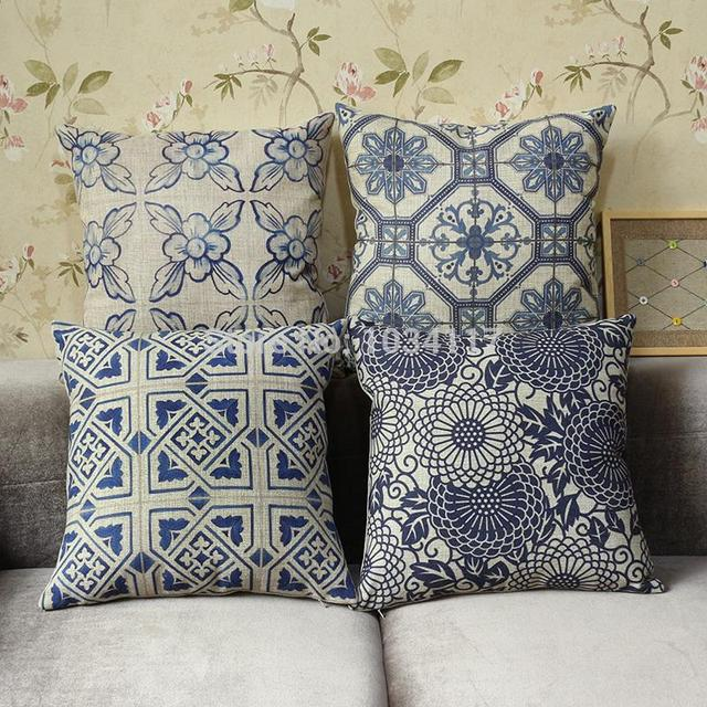 Whole 45 Cotton Linen Thicken Vintage Home Decor Texture Serie Sofa Decorative Cushion Throw