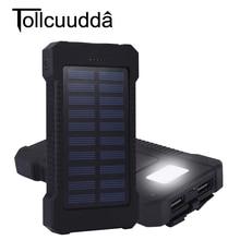 Tollcuudda Открытый Путешествие Туризм 10000 мАч солнечное зарядное устройство двойной USB аккумулятор Power Bank водонепроницаемый для Samsung iPhone телефон