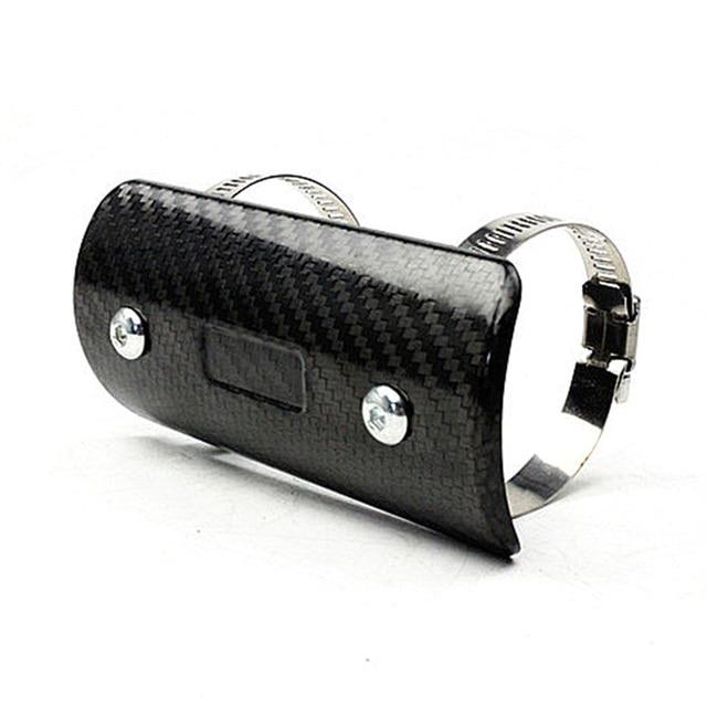 TKOSM Motorcycle Exhaust Muffler Cover Carbon Fiber Color Protector Heat Shield Cover Guard TMAX530 CB400 CBR300 Z250 Z750