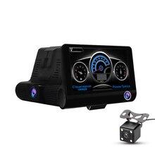 Dual Lens Auto DVR Del rivelatore Del Radar GPS 3 in 1 Full HD 1080 P 170 Gradi di Rearview Dell'automobile del Precipitare Della Macchina Fotografica video recorder G-sensore di DK008