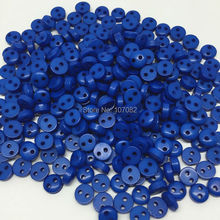 1000pcs 6mm Royal Blue Color Round 2 Hole Buttons Resin Mini Tiny Button Sewing Cardmaking Embellishments Scrapbooking