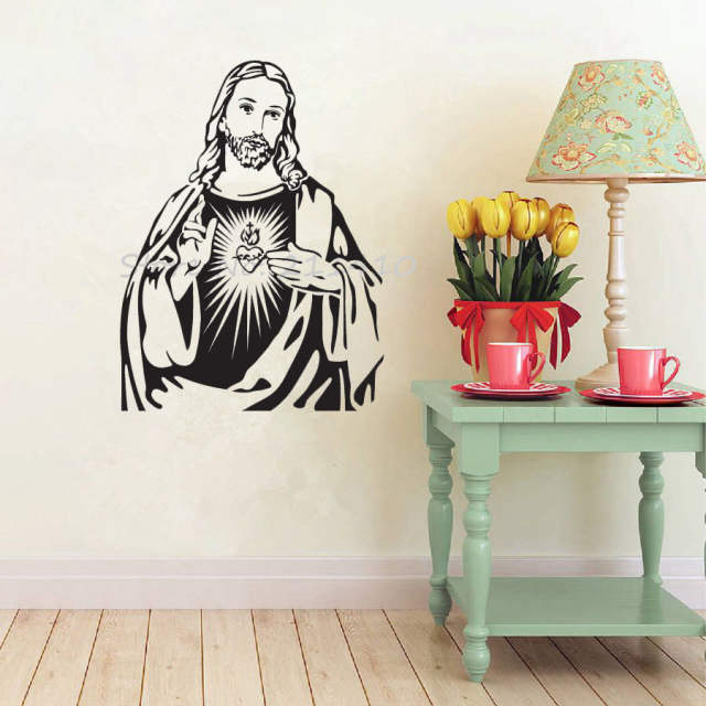 online shop the heart of jesus christ portrait wall stickers home