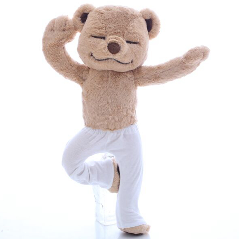 40cm Creative Yoga Bear Plush Toy Stuffed Cute Yoga Bear Doll Soft Comfort Baby Toys Christmas Gift for Kids Children Girlfriend cute poodle dog plush toy good quality stuffed animal puppy doll model soft doll kids gift baby toy christmas present