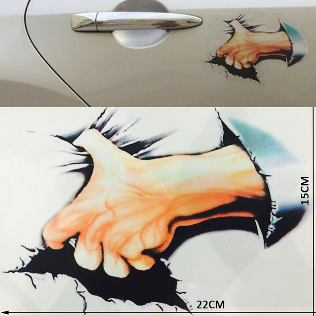 Car styling bloody hand car sticker violent pvc 3d car stickers decoration waterproof decals stickers car