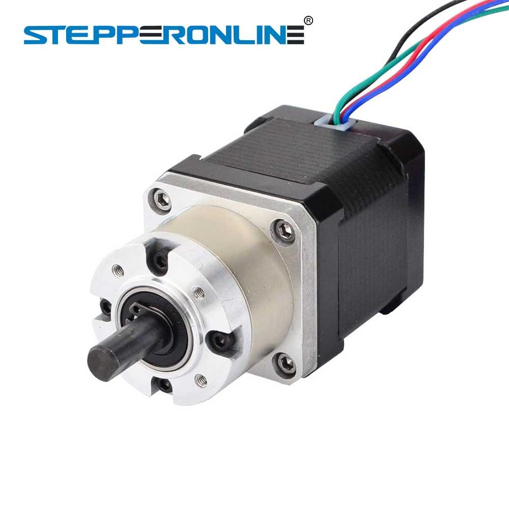 Nema 17 Stepper Motor 5:1 Planetary Gearbox High Torque Nema17 Geared Stepper Motor 1.68A DIY CNC 3D Printer kingroon 1pc 3d printer kossel 42 stepper motor 42 two phase stepper motor 1 5a high torque 1 8 degrees with 800mm motor line 0