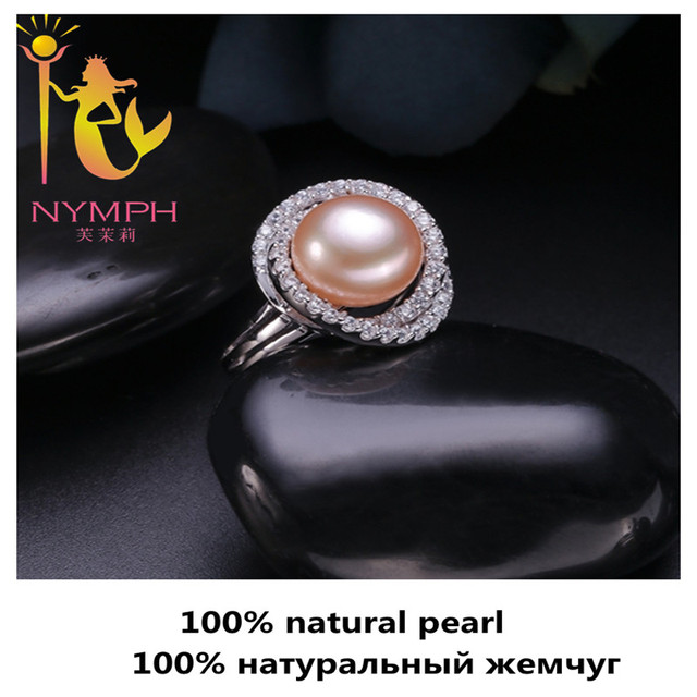 High-quality NYMPH max natural pearl jewelry rings Engagement wedding rings trendy gift  for women fine jewelry PJJZ011