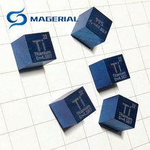Металл Титан 10 мм синий плотность куб Ti 99.5% чистый для коллекции элементов ручной работы DIY хобби ремесла дисплей стекло герметичный
