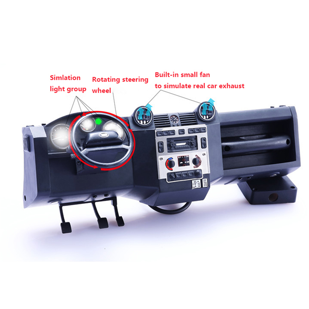 Simulation Center Console Kits for Traxxas TRX4 Land Rover Defender RC Car DIY Part Dial Light Integration Self-contained FanSimulation Center Console Kits for Traxxas TRX4 Land Rover Defender RC Car DIY Part Dial Light Integration Self-contained Fan