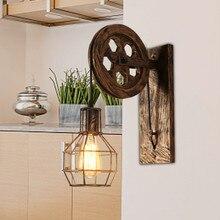Lámpara Retro de lámpara de pared para apartamento luces Vintage LED industrial interior iluminación lámpara de accesorios para la habitación