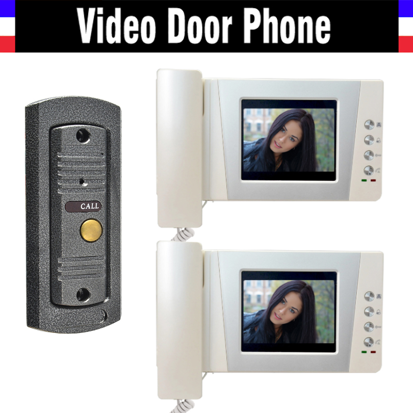 4.3 LCD monitor video doorbell door phone system video interphone kits IR Night Vision pinhole Camera video intercom for home