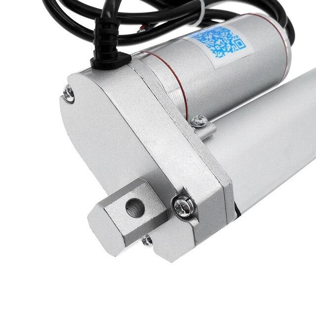 Actuador lineal eléctrico 100mm controlador de motor lineal de carrera 24V dc 12V 100/200/300/500/600/750/800/900/1100/1300/1500N