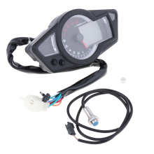 Motorcycle Speedometer Blue LCD Backlight  Digital Odometer Tachometer indicator Scooter Universal