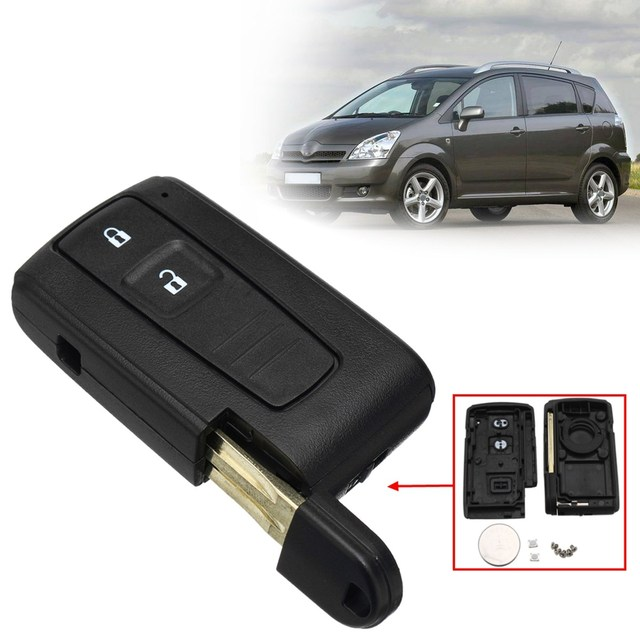 2 Buttons Open Lock Car Remote Key Fob Case Shell With Battery For