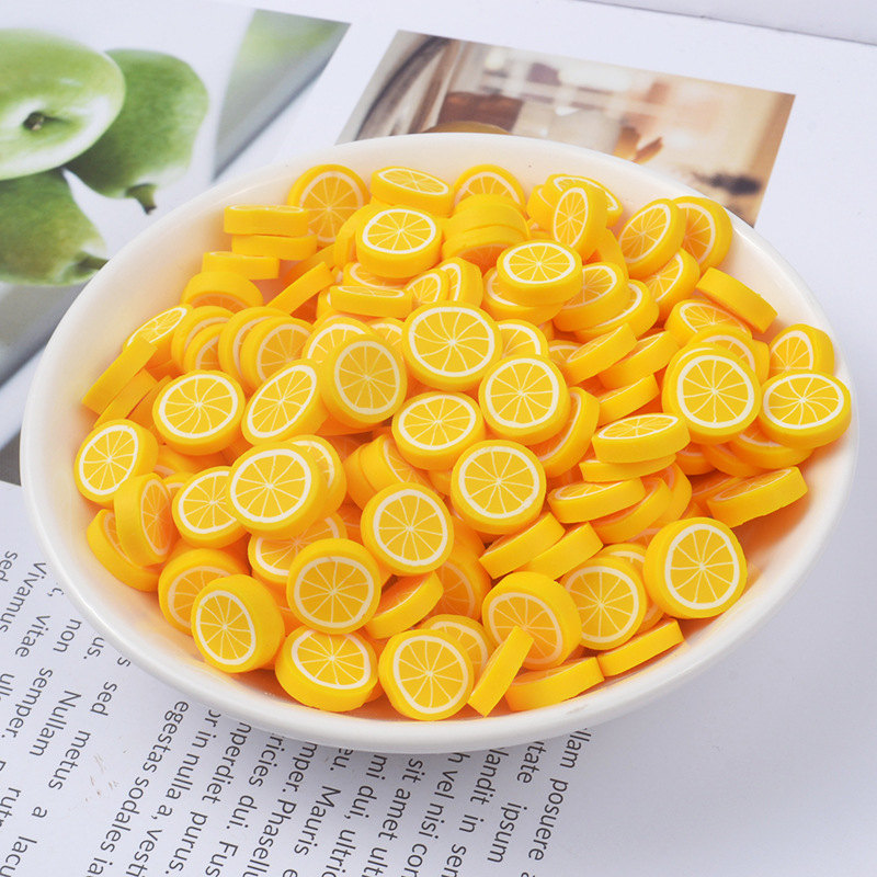 20PCS Slime Kit Fruit Slices Pearl Handicraft Material Slime Box Art Supplies Lizun DIY Clear Kid Putty Soft Pottery Set Decoration Toy  (6)