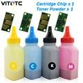 1 шт. бутылка порошка тонера + 1 шт. чип для Konica Minolta Magicolor 2400 2430 2500 2500 Вт 2530DL 2550DN 2550EN 2590 KCMY Reset Refill