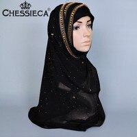 2017 New Fashion Scarf Luxury Brand Islamic Muslim Inner Hijab Caps Diamond Scarves Solid Skull Head